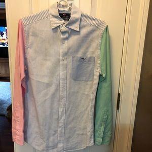 Men's Vineyard Vines XS Slim fit Tucker shirt EUC